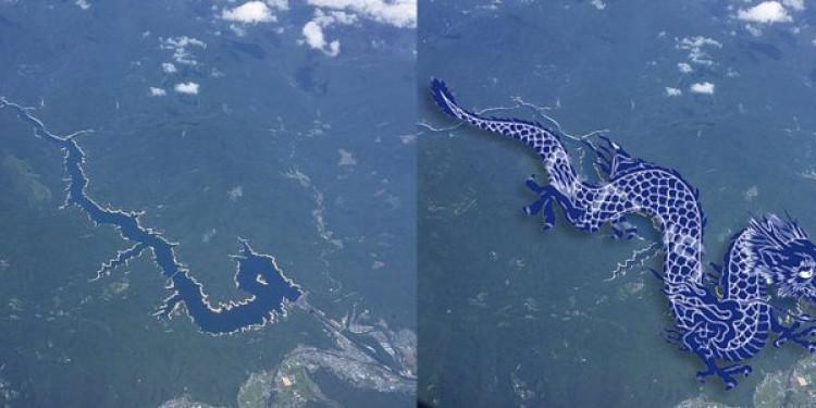 Dòng sông hình rồng ở Nhật Bản