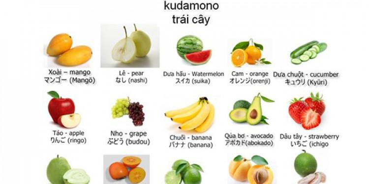 Từ vựng về các loại quả